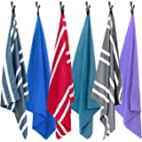 AirComfy Microfiber Beach Towel - Quick Dry Large XL Towels for Gym, Pool, Camp, Travel, Yoga