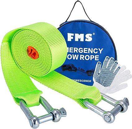 ABSCHLEPPSEIL  bis 5 Tonnen Länge 3,5m mit 2 Sicherheitshacken Seil