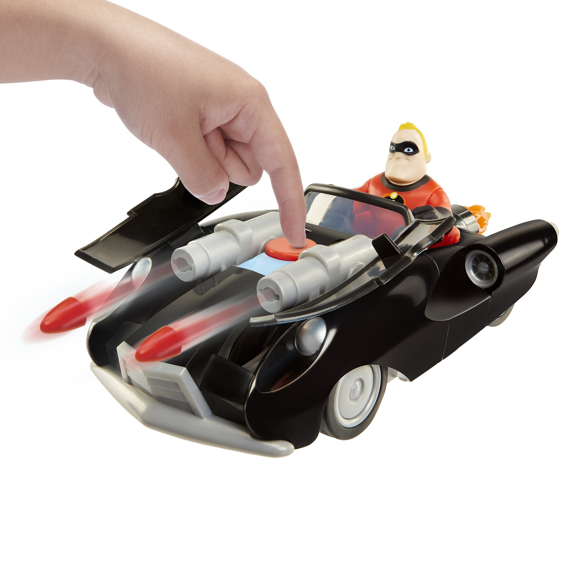 The Incredibles 2 Incredibile Car & Mr. Incredible Action Figure 2-Piece Set, Black Car and Red Mr. Incredible Figure, Medium by The Incredibles 2 (Image #3)