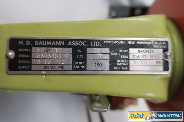 FISHER Baumann 32-24213 1IN NPT 250 Bronze Pneumatic Control Valve D570318