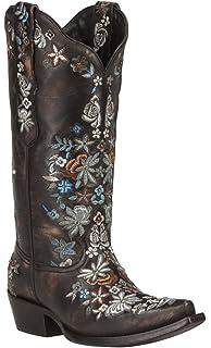 544c8dbe629 Amazon.com | Black Star SWEETGRASS (Black/Purple) Women's Cowboy ...