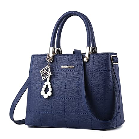 232ca78b344 BestoU Bolsos Mujer bandolera Shopper Tote Bolso PU PIEL (Azul ...