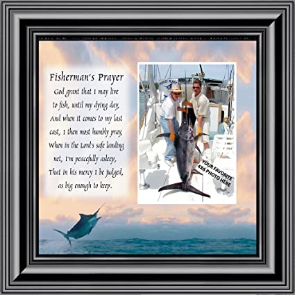 Amazon.com - Deep Sea Fisherman\'s Prayer, Personalized Fishermen\'s ...