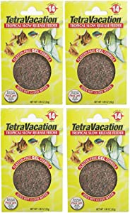 Tetravacation 14-Day Feeder For Tropical Fish. 4 Pack (4.24 Oz Total).