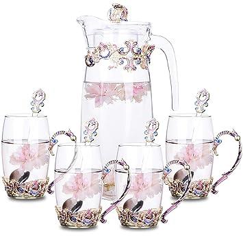 Taza De Té Taza De Agua Vidrio De Cristal De China Para El Hogar Esmalte Retro