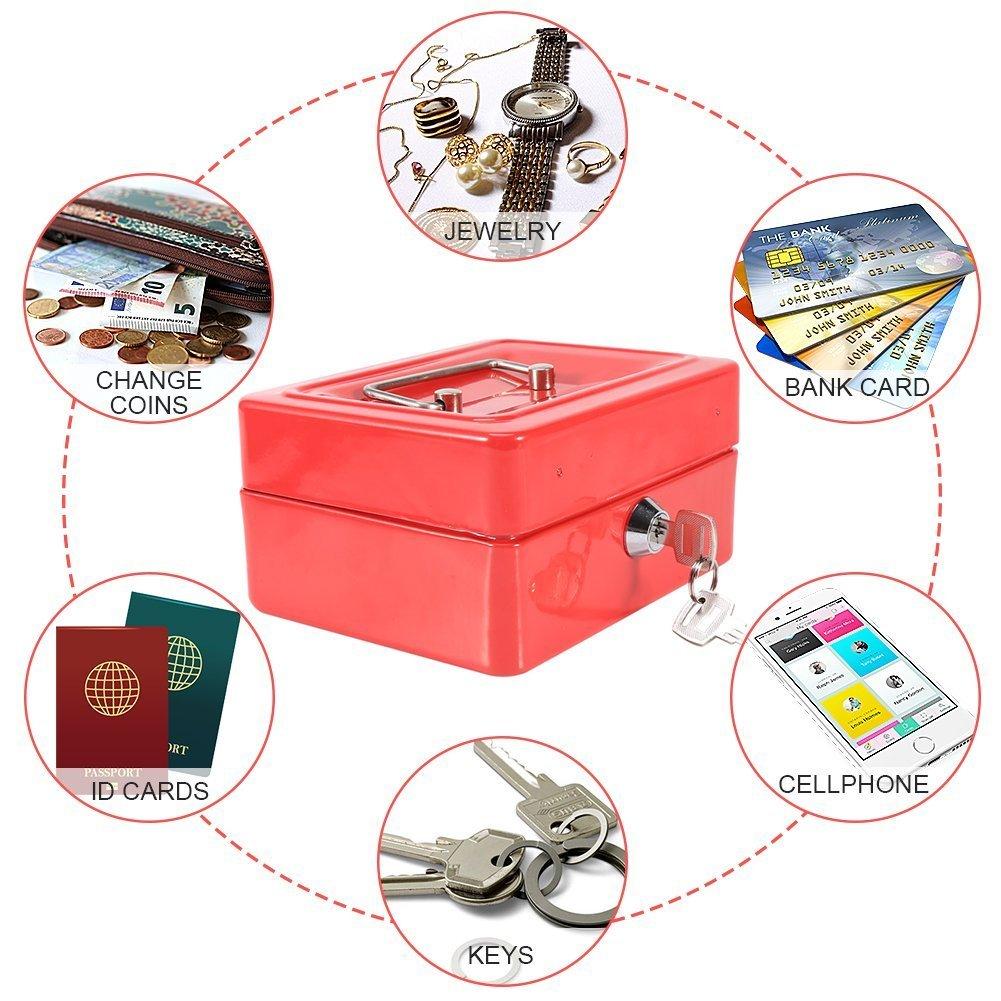 Caja de seguridad caja de seguridad caja de dinero caja de dinero Color : Azul