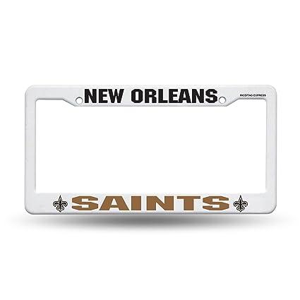 Amazon.com : NFL New Orleans Saints Plastic License Plate Frame ...