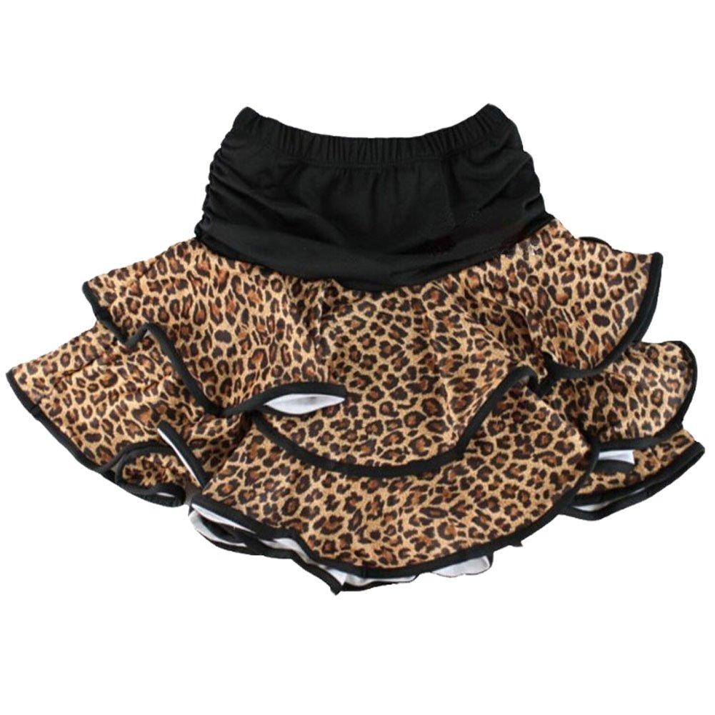Hot-Sale [Leopard] Little Girls Latin Dance Skirt Soft Practice Dress Asian M by Panda Superstore