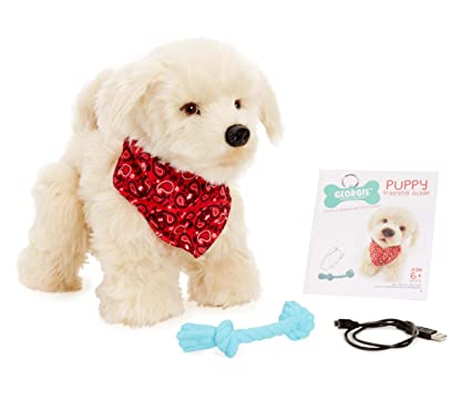 abc1ef2de42e Amazon.com: Georgie - Interactive Plush Electronic Puppy: Toys & Games