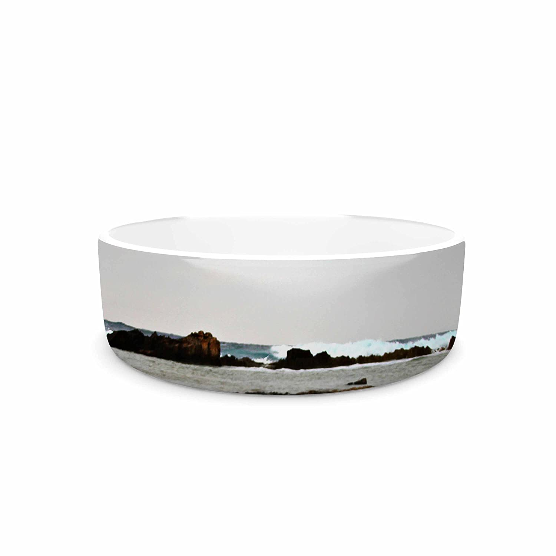 KESS InHouse Sylvia Coomes Dark Sea  bluee Coastal Pet Bowl, 7