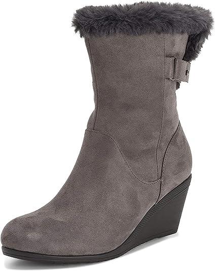 VIVA Womens Low Wedge Heel Adjustable