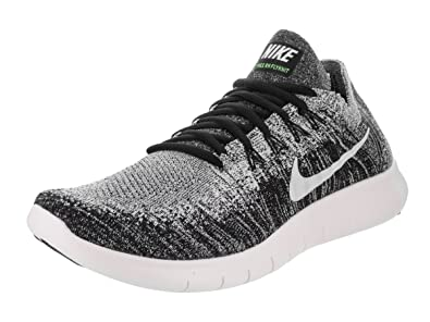 new style e1cb3 899ce Nike Free RN Flyknit 2017, Chaussures de Trail Homme, Noir (Black White