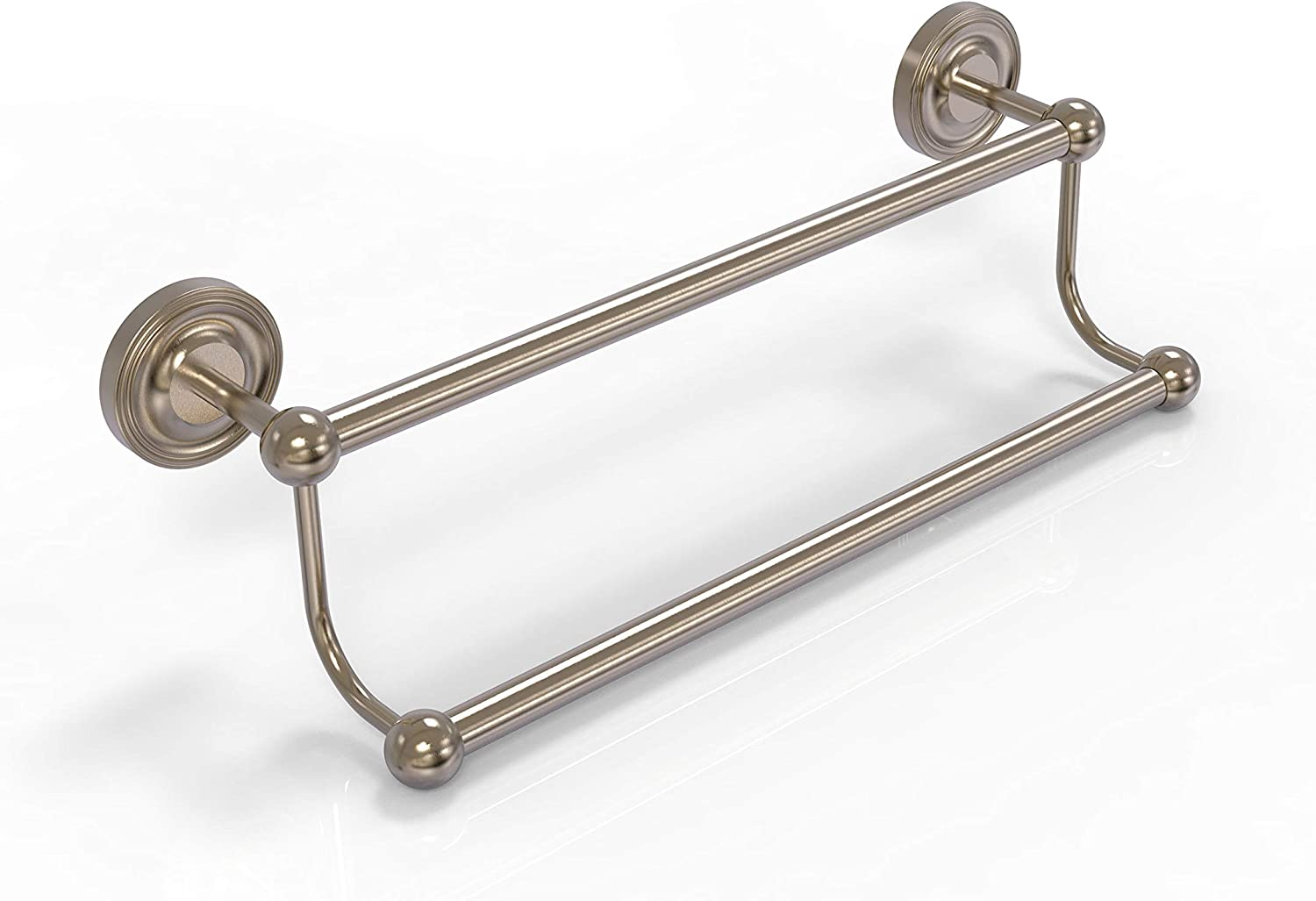 Satin Brass Allied Brass PQN-72//24 Prestige Que New Collection 24 Inch Double Towel Bar