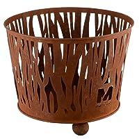 RM Design Feuerkorb XL Corten Bronze Fire Basket ✔ rund ✔ Grillen mit Holzkohle