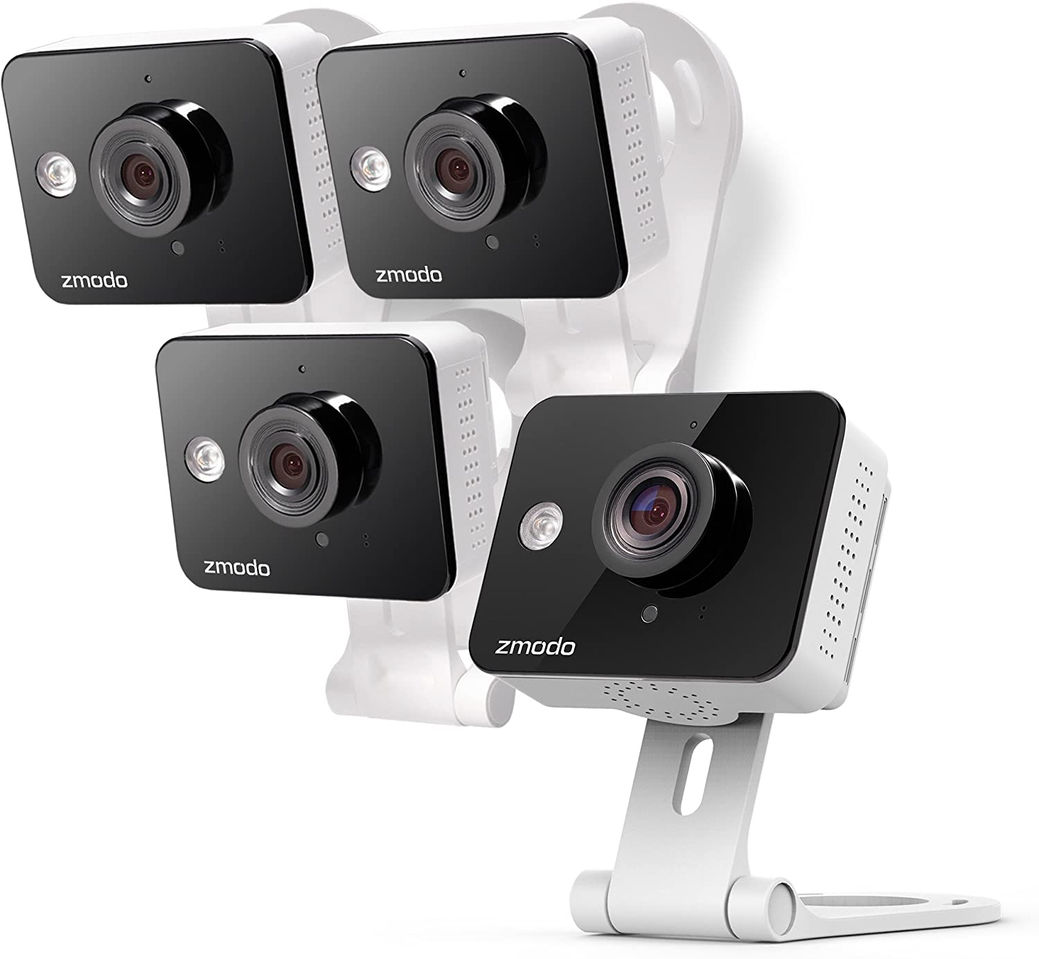 Zmodo Wireless Two-Way Audio HD Home Security Camera 4 Pack with Night Vision