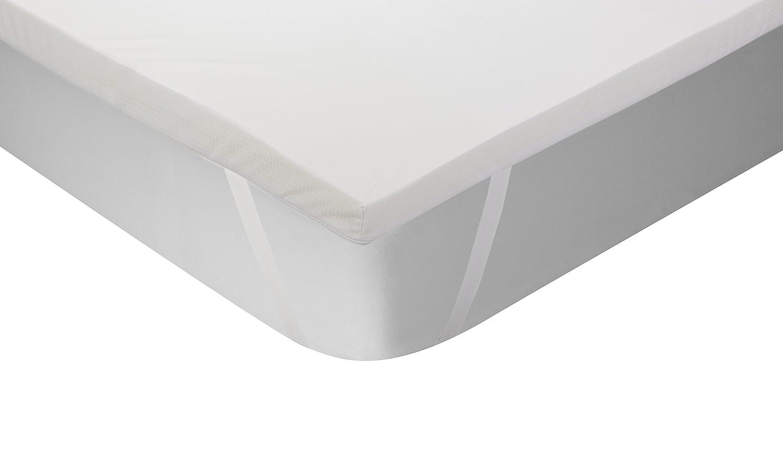 Classic Blanc - Topper / sobrecolchón viscoelástico termorregulador, color blanco, 150 x 200 cm, cama 150: Amazon.es: Hogar