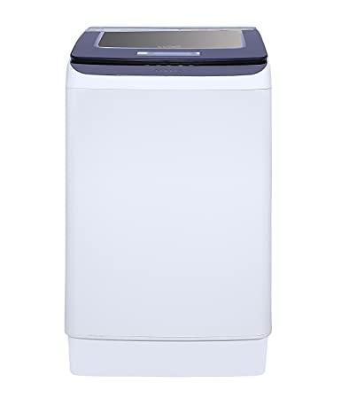 Lloyd 7.5 kg Fully-Automatic Top Loading Washing Machine (LWMT75TGS, Purple and White)