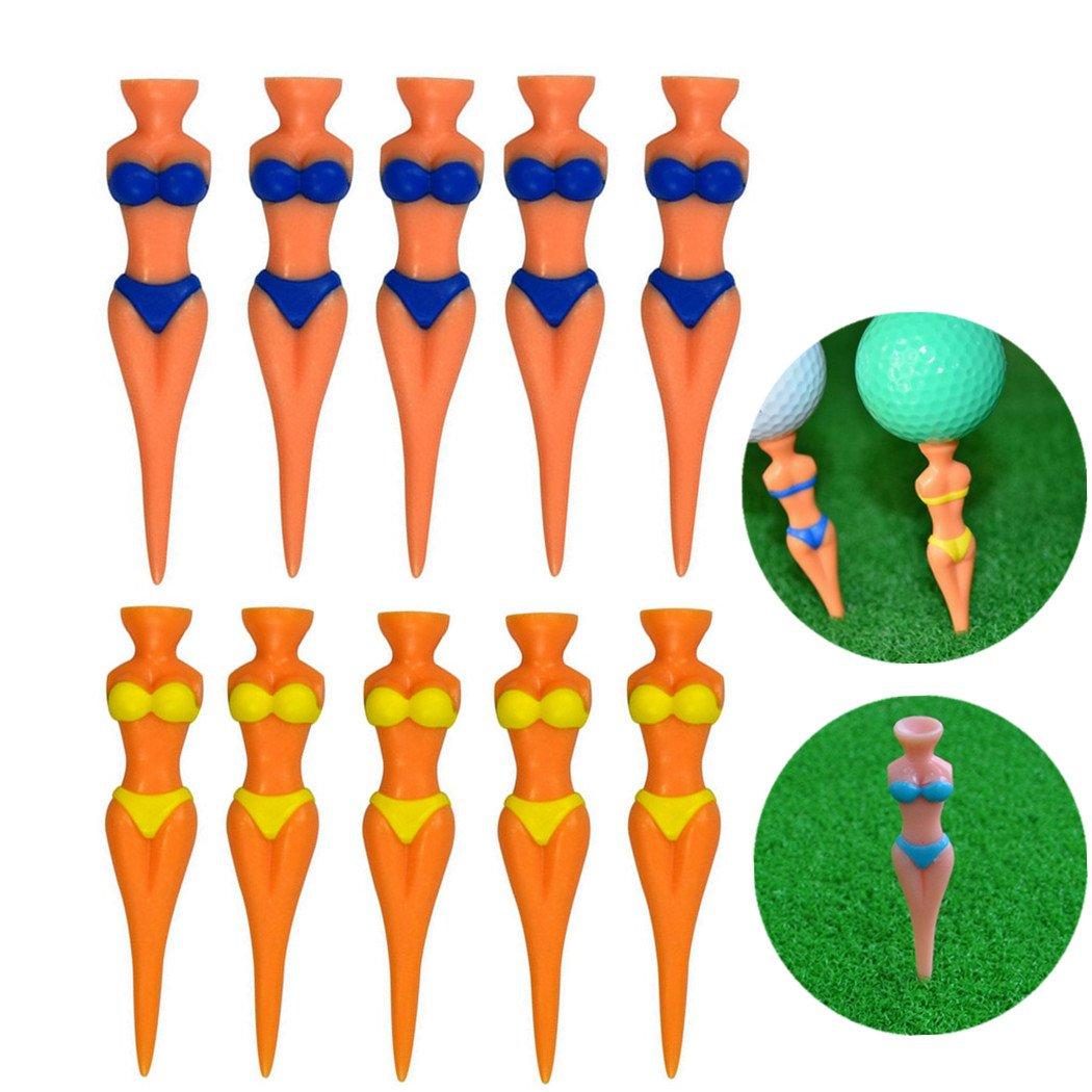 MarketBoss 10pcs Sexy Girl Golf Tees Novelty Plastic Golf Tee Club Sports Practice Training Tool For Golfers