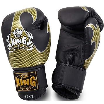 Carbon KINGTOP Top King Boxhandschuhe Schwarz-Silber