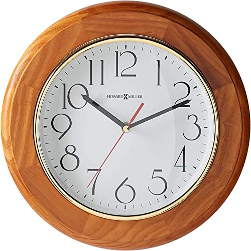 Howard Miller Grantwood Wall Clock 620-174 Champagne Oak Round with Quartz Movement