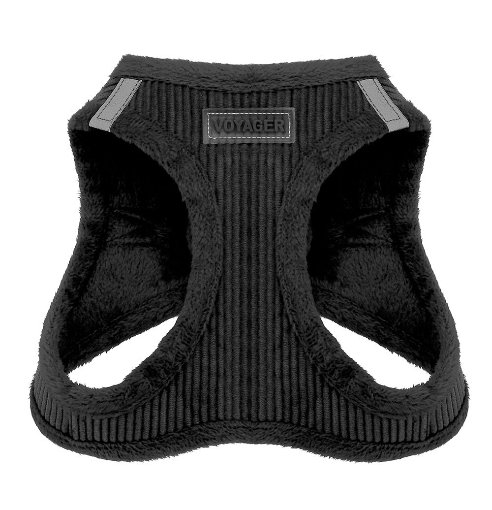 Voyager Soft Harness for Pets - No Pull Vest, Best Pet Supplies, Small, Black Corduroy