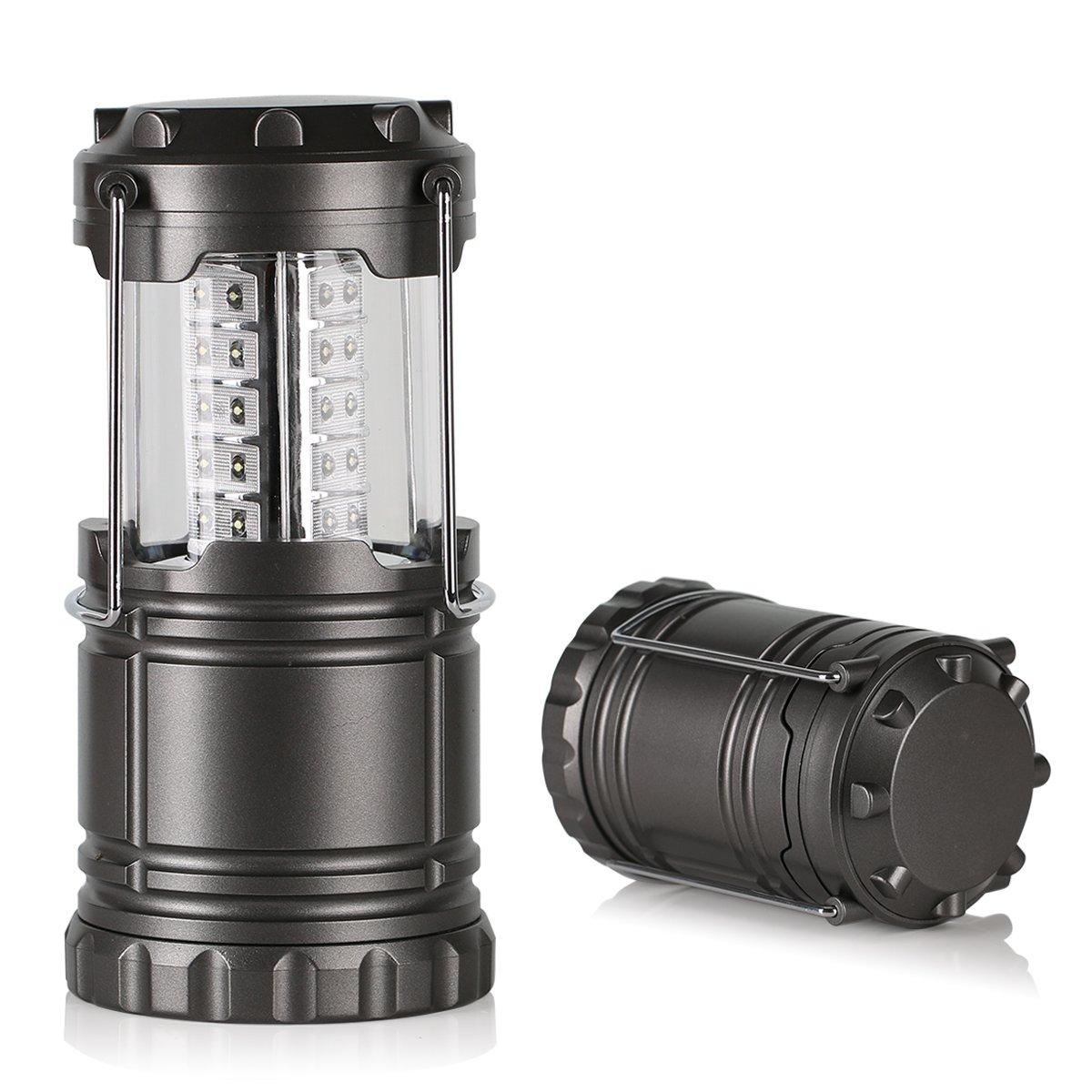 Crenova® Semptec - Linterna con 30 Bombillas LED Individuales para Camping, Color Gris