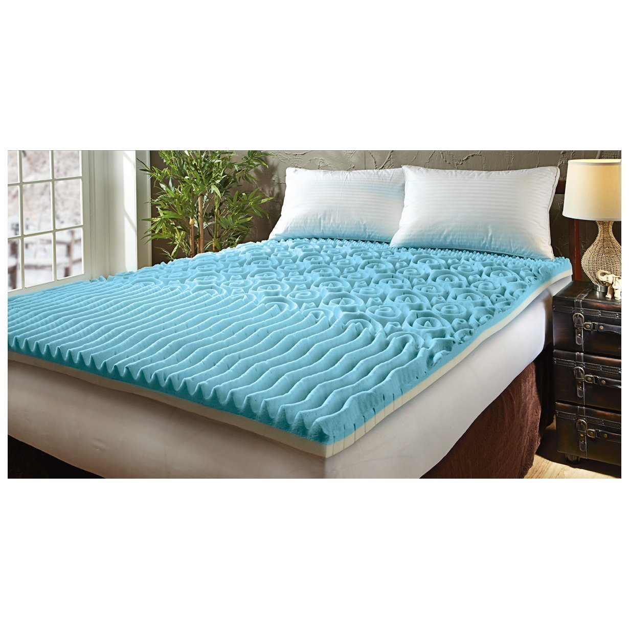 Broyhill Dual Layer Cooling Gel Memory Foam Mattress Topper, 3'' King