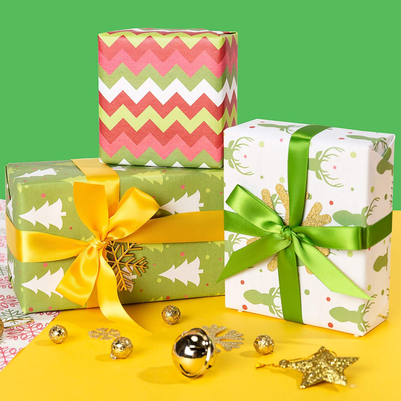 Menorahs 44,5 X 76CM Per Foglio RUSPEPA Hanukkah Gift Wrapping Paper Sheet La Stella Di David 1 Rotolo Contiene 8 Fogli Candele Chanukah Design