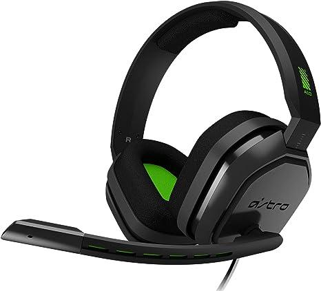 ASTRO Gaming A10 Auriculares alámbricos, Ligeros y Resistentes, Astro Audio, Dolby Atmos, Clavija de 3.5mm, para Xbox Series X|S, Xbox One, PS5, PS4, Switch, PC, Mac, móvil - Negro/Verde: Amazon.es: Informática