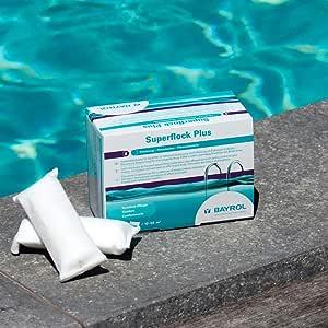 Bayrol 7595292 - Floculante en Cartuchos para filtros de Arena Superflock Plus 1 kg: Amazon.es: Jardín