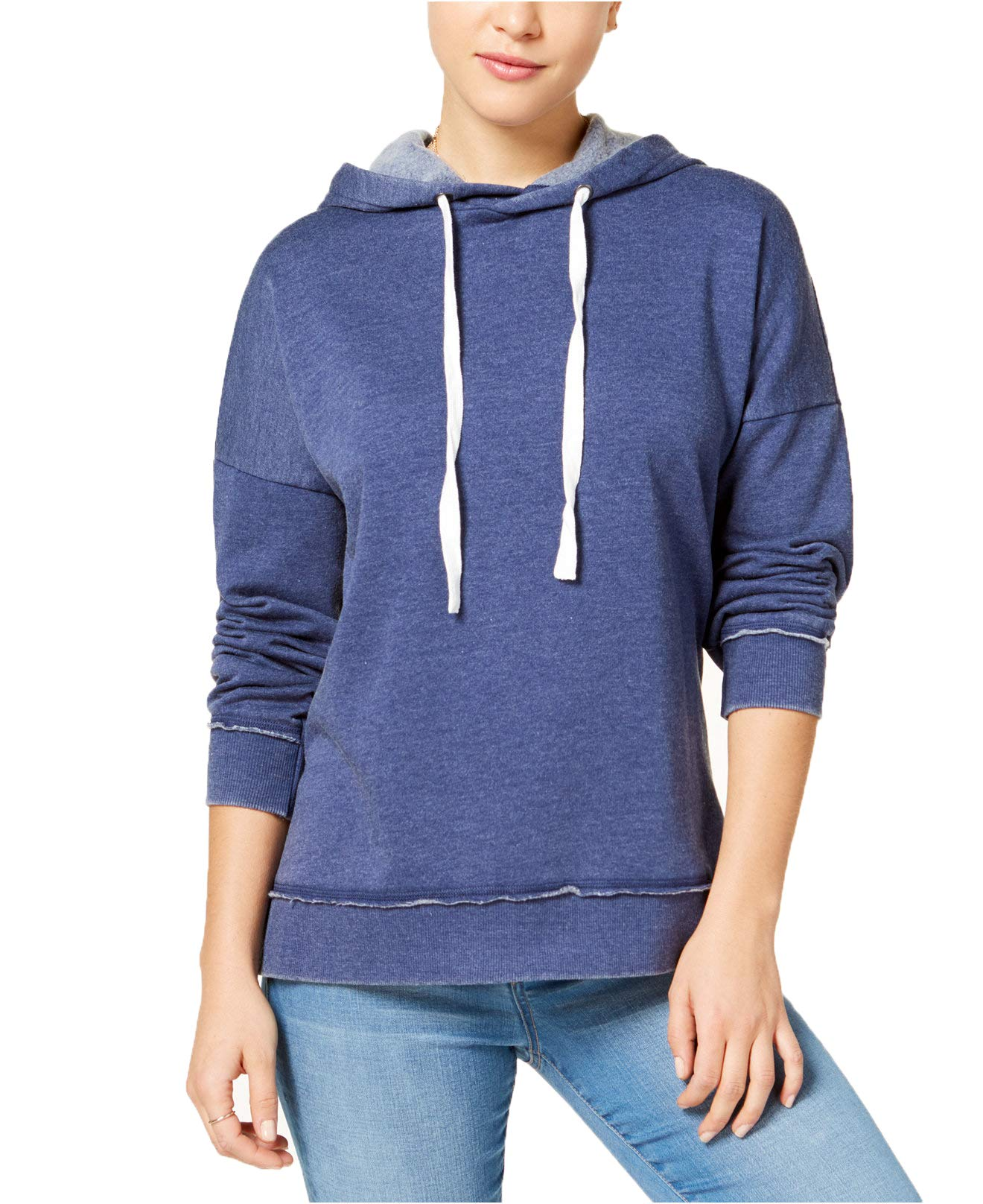 Hippie Rose Juniors' Pullover Hoodie Tunic (Indie Blue, S)