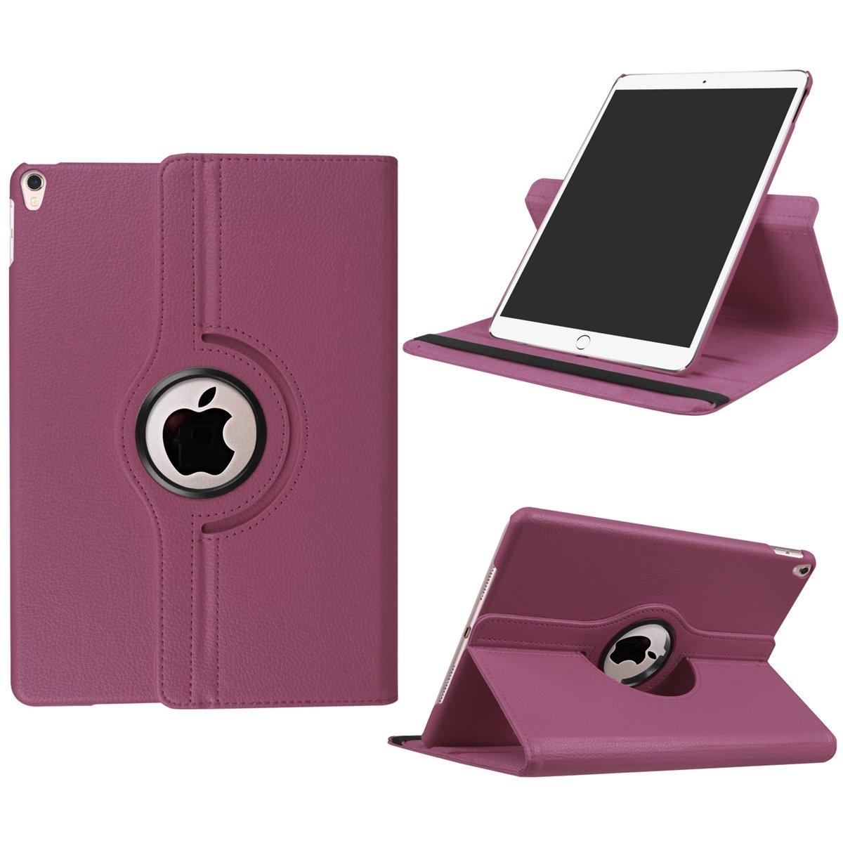 TOTOOSE iPad Pro 10.5 Funda, Inch 2017 Funda, 10.5 PU Cuero Cartera Carcasa con Función Flip Stand Marco de fotos y ranuras para tarjetas Silicona TPU Suave Cover(Púrpura) 1732f2