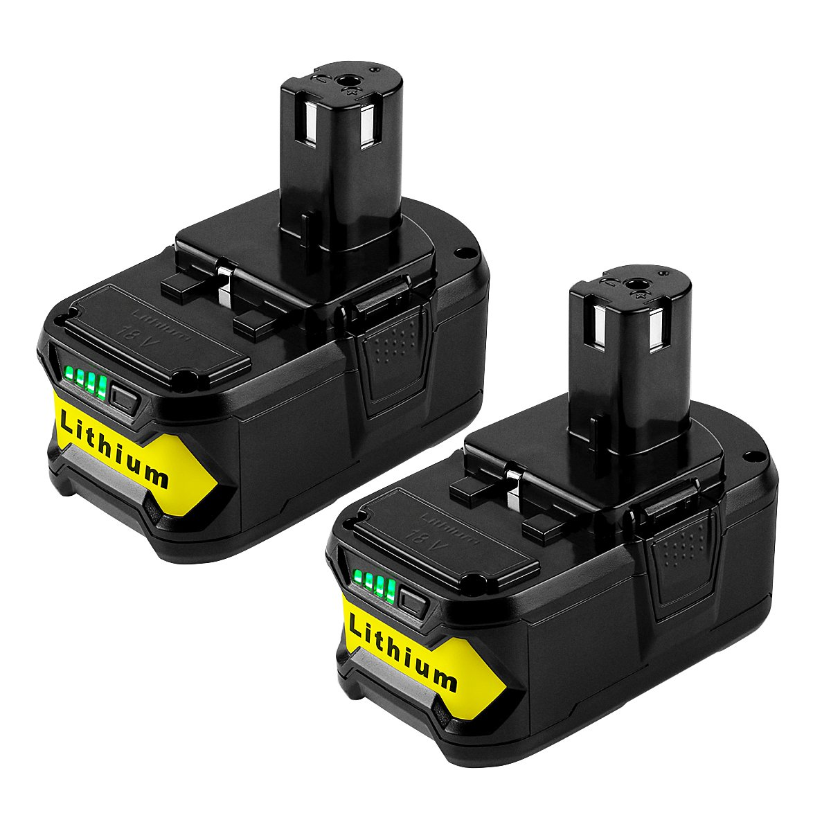 [Upgrade] ANTRobut 2Pack 5000mAh Ryobi 18V Lithium Battery Replacement for Ryobi 18-Volt ONE+ P108 P102 P103 P104 P105 P107 P109 P122 Cordless Power Tools