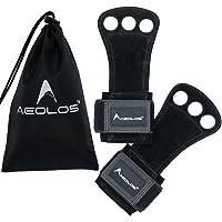 Aeolos - Puños de cuero para gimnasia. ideal para gimnasia, levantamiento de pesas, dominadas, pesas, pesas rusas y crossfit.