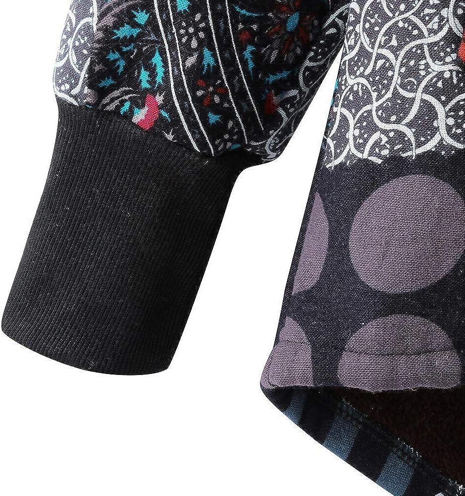 YKARITIANNA Womens Plaid Dot Cardigans Down Jackets /& Parkas Pattern Winter Warm Outwear Hooded Vintage Oversize Hasp Coats