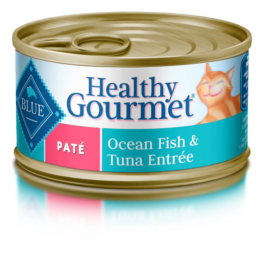Blue Buffalo Healthy Gourmet Natural Adult Pate Wet Cat Food, Ocean Fish & Tuna 3-oz cans (Pack of 24) by Blue Buffalo