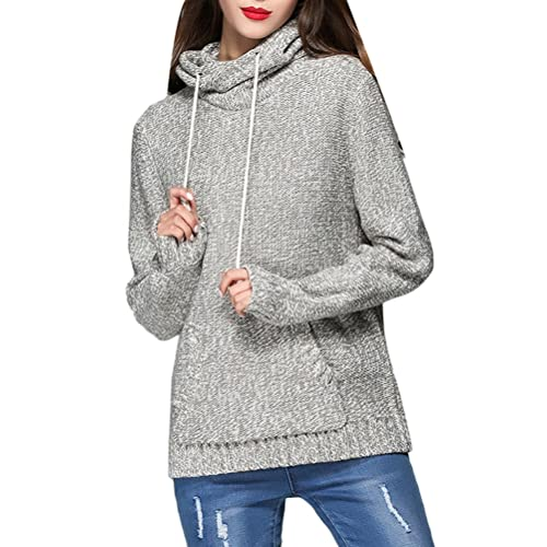 Zhuhaitf Agradable Special Weave Lines Sweater Korean Style Hooded Shirts Popular for Women