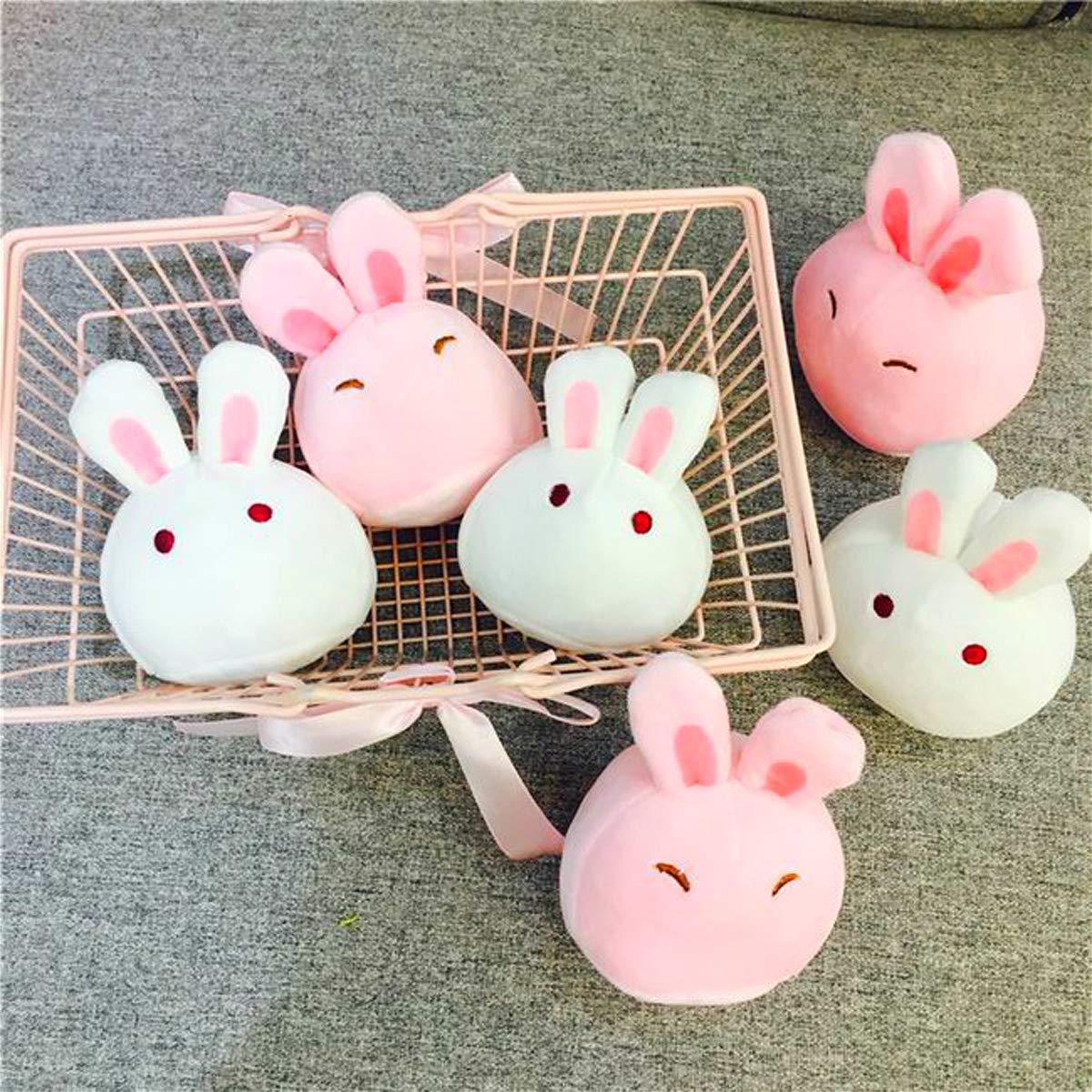 Nenalayo Cute Throw Pillow Stuffed Animal Toys Removable Fluffy Bunnies Creative Gifts for Teens Girls Kids by Nenalayo (Image #7)