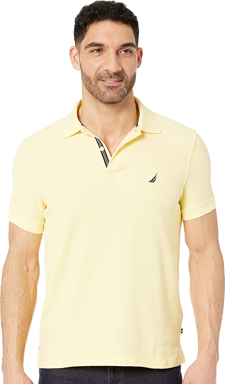 Nautica Mens Slim Fit Short Sleeve Solid Polo Shirt At Amazon Mens