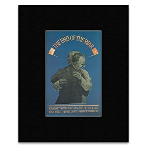 The End of the War - Advertising Straight Theather San Francisco 1967 Matted Mini Poster - 36x28cm