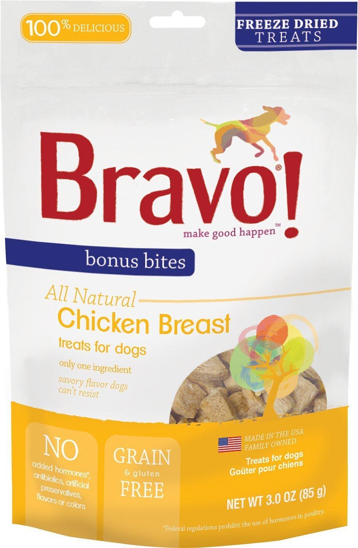 amazon com bravo bonus bites freeze dried chicken breast 3