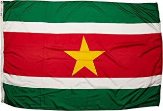 product image for Annin Flagmakers Model 197878 Suriname Flag Nylon SolarGuard NYL-Glo, 4x6 ft, 100% Made in USA to Official United Nations Design Specifications