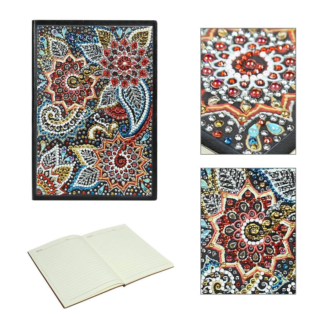 MKChung DIY Flower Special Shaped Diamond Painting 60 Pages A5 Notebook Diary Book
