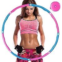 Aoweika Fitness Oefenhoepel voor gewichtsvermindering, banden met schuimrubber, ca. 0,92 kg, met mini-bandmaat…
