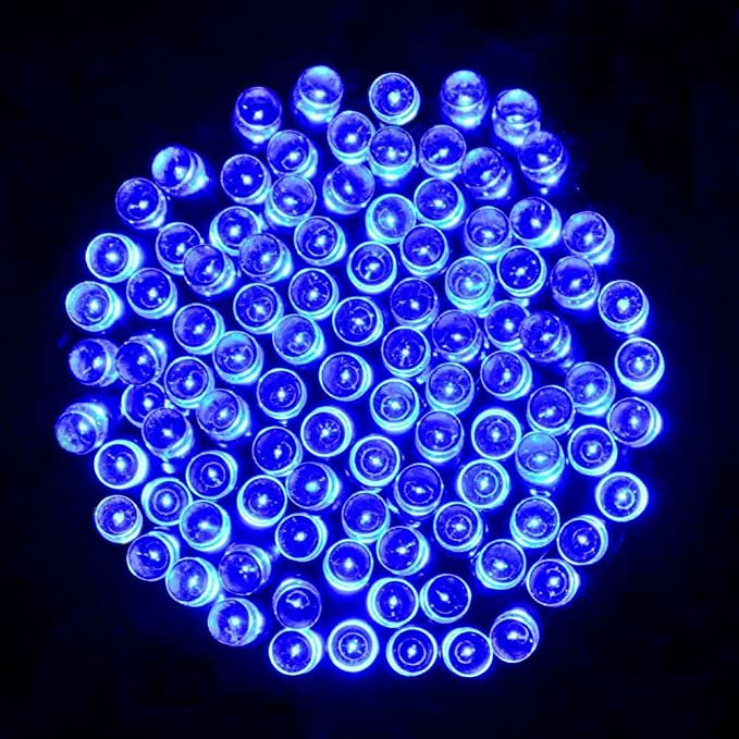 Blanc chaud, 20 m/ètres LED Guirlande Lumineuse Solaire 20M /à 200 LEDs ext/érieur int/érieur de 8 modes /étanche IP44 pour d/écoration de f/ête Mariage No/ël Jardin Halloween c/ér/émonie Viktion