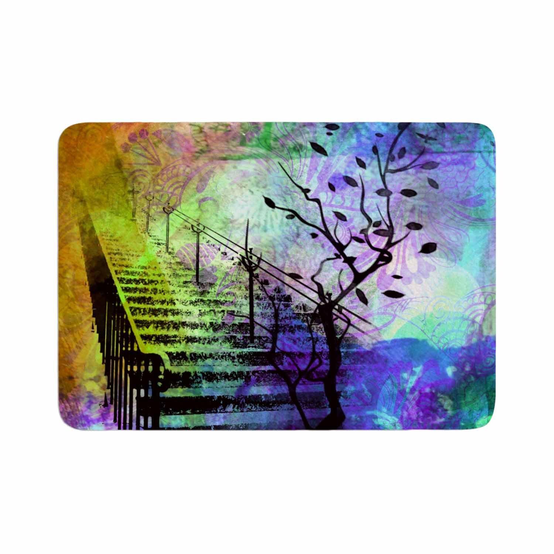 Kess InHouse AlyZen Moonshadow Stairway Blue Tree Memory Foam/Bath Mat 24 by 36
