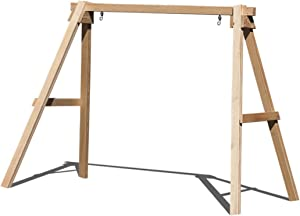 Ecommersify Inc Porch Swing Stand for 5 FT Swings A Frame - 800 lbs Capacity Made in USA from Select Treated and kiln Dried 4 x 4 Pine Posts