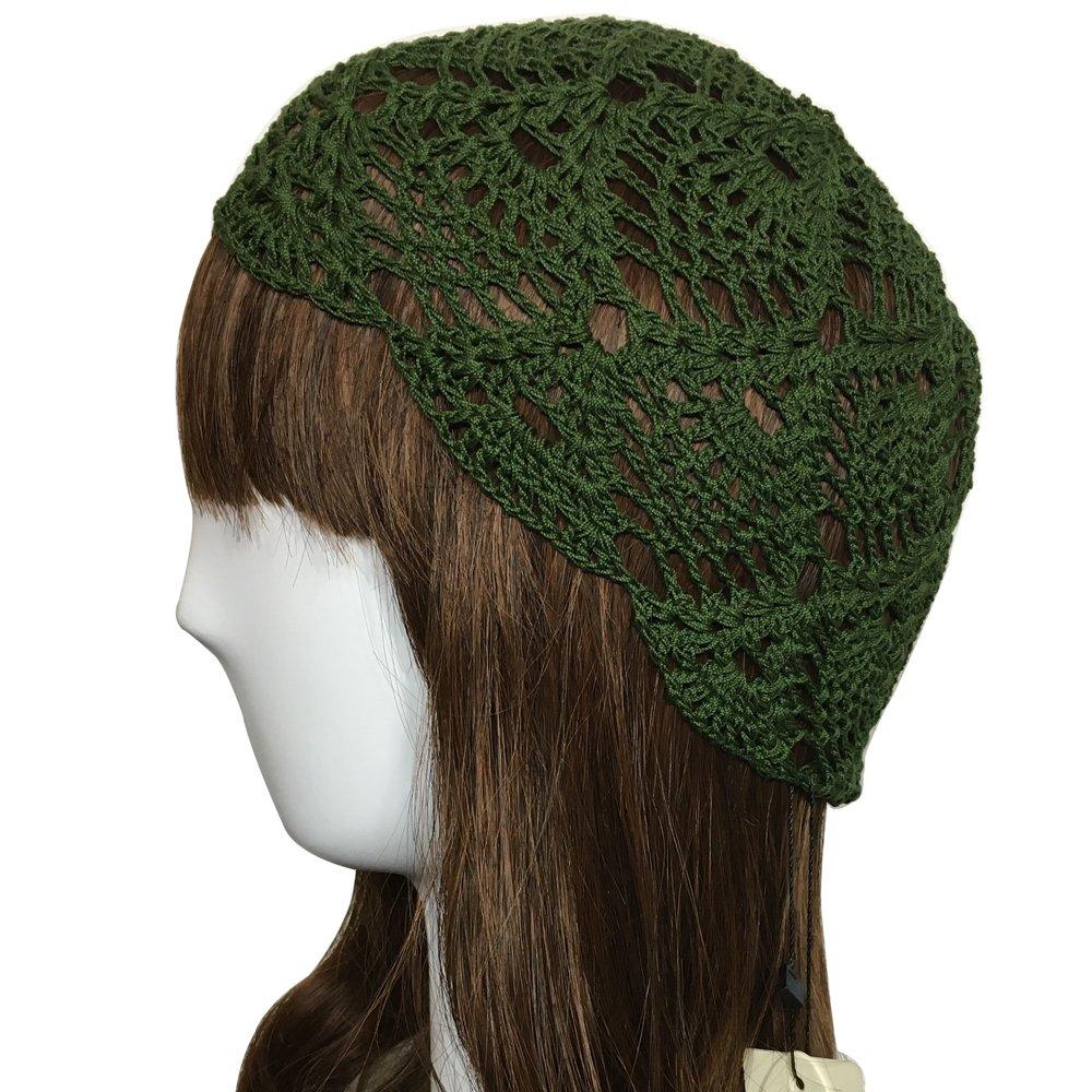 ZORJAR 100% Handmade Linen Pineapple Design Crochet Knit Hat Cap for 3  Seasons (Blackish Green) at Amazon Women s Clothing store  d9abaff48