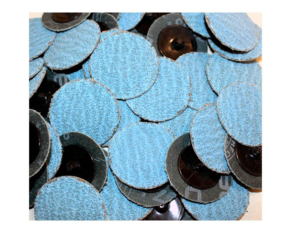 Car Builder Supply 714q50 Sand Loc Roloc Quick Change Type R Grinding Sanding Disc 2'' 36 Grit Zirconia (ZA) Blue Industrial 50pc