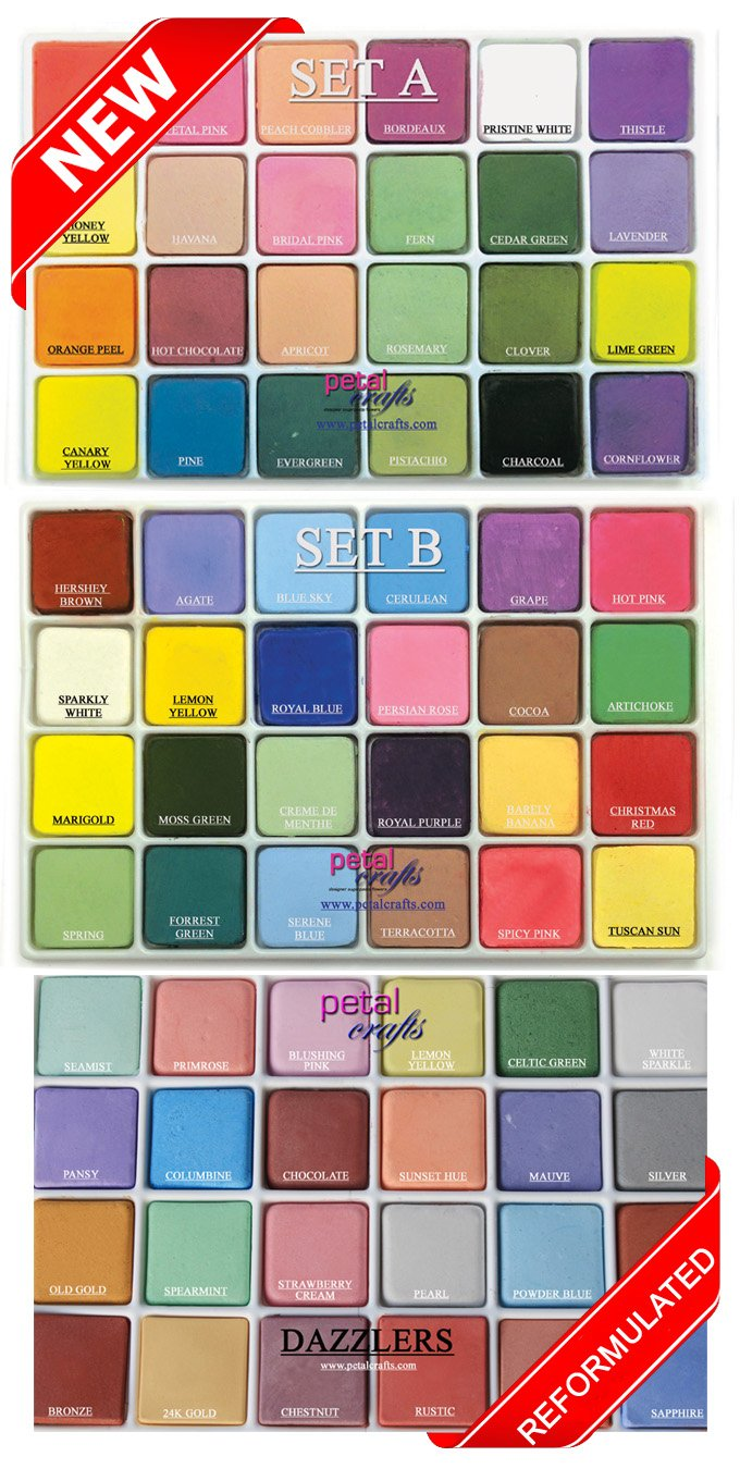 Petal Crafts Palette Dust Set (72 Pack), 48 Matte Colors and 24 Dazzler Colors